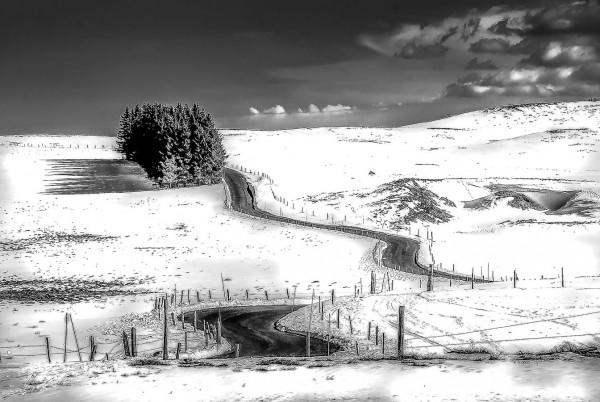 L'Aubrac en hiver de Guy Chapus - Photo Club de Martigues