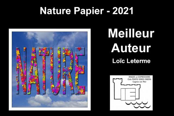 Meilleur Auteur de la compétition - Loïc Leterme - Images Expressions - Cagnes sur Mer