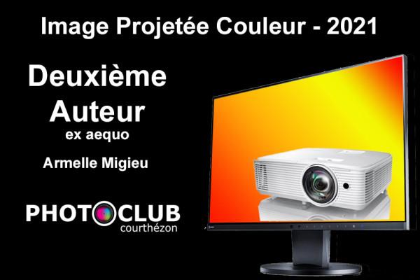 Deuxième Auteur ex aequo - Armelle Migieu - Photo Ciné Club Courthezonnais