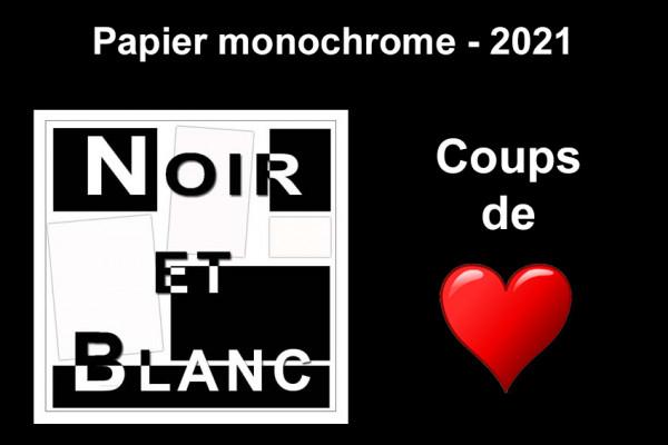 Les 3 Coups de Cœur, Monochrome papier
