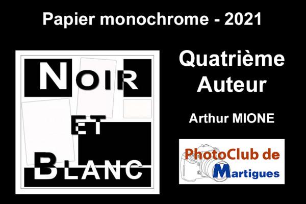 Quatrième Auteur ex aequo - Papier Monochrome