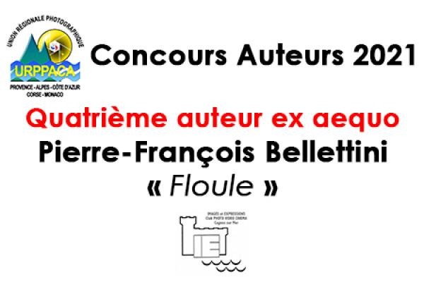 Quatrième auteur ex aequo - Pierre-François Bellettini - Images Expressions - Cagnes sur Mer