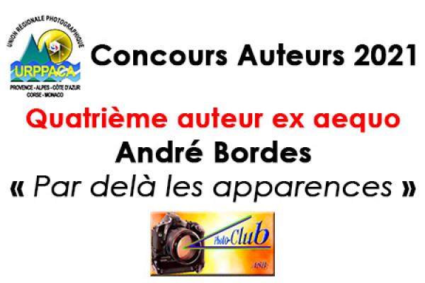 Quatrième auteur ex aequo - André Borde -Association Sportive Berre