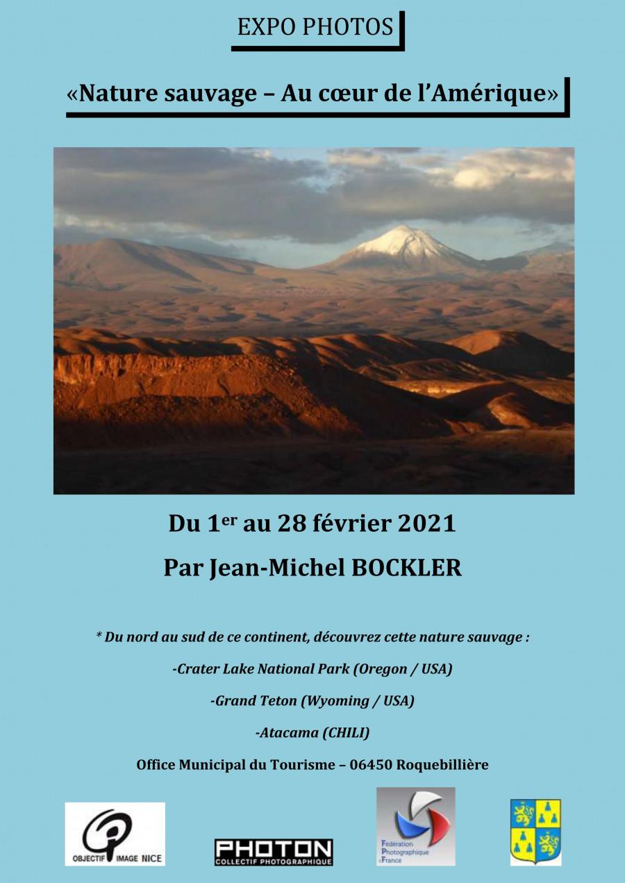 Jean-Michel Bockler expose durant tout le mois de février à l'Office de Tourisme de Roquebillière.